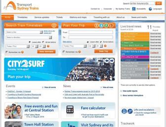 sydneytrains.info screenshot