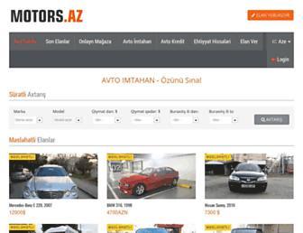 Main page screenshot of motors.az