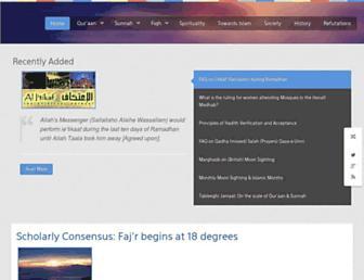 central-mosque.com screenshot