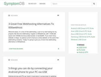 symptomdb.com screenshot