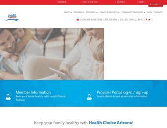 healthchoiceaz.com screenshot