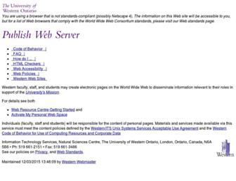 publish.uwo.ca screenshot