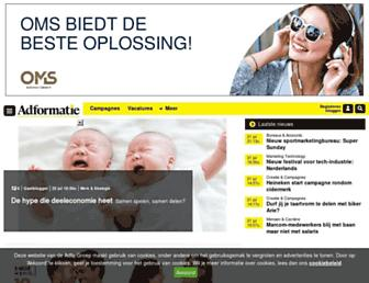 Main page screenshot of molblog.nl