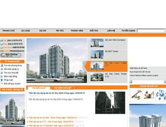 Main page screenshot of azland.com.vn