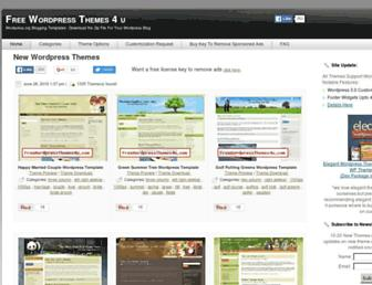 Thumbshot of Freewordpressthemes4u.com