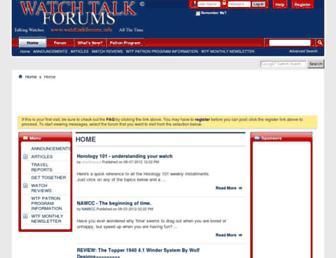 Thumbshot of Watchtalkforums.info