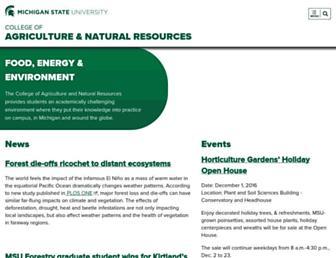 canr.msu.edu screenshot