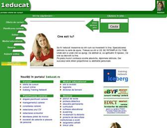Main page screenshot of 1educat.ro