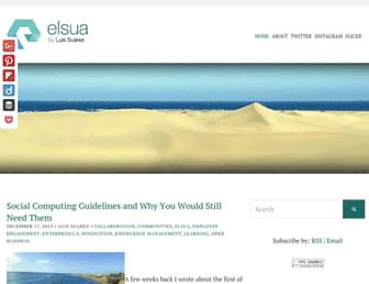 Main page screenshot of elsua.net