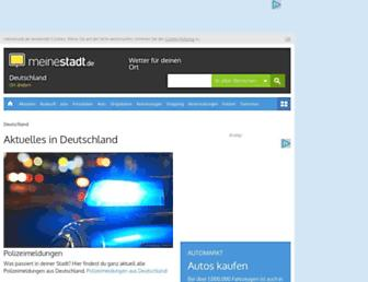Main page screenshot of aktuell.meinestadt.de