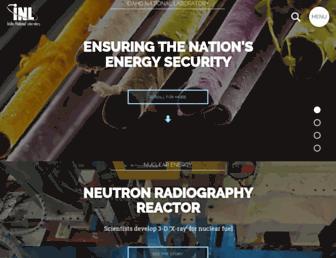 Main page screenshot of inl.gov