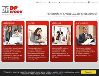 Main page screenshot of dpwork.eu