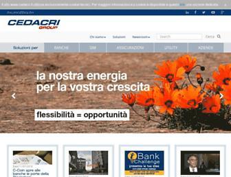 Main page screenshot of cedacri.it