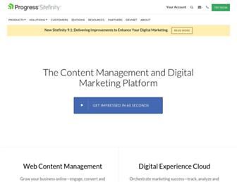 Thumbshot of Sitefinity.com