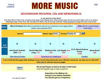 Main page screenshot of moremusic.co.uk