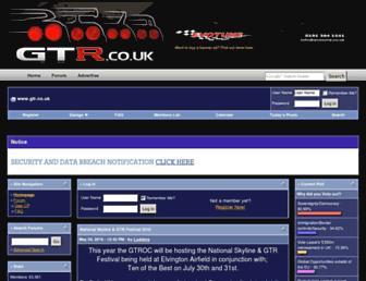 Main page screenshot of gtr.co.uk