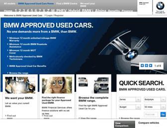 usedcars.bmw.co.uk screenshot