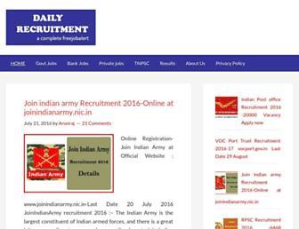 dailyrecruitment.in screenshot