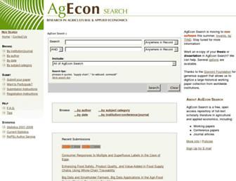 ageconsearch.umn.edu screenshot