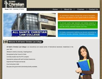 allsaintschristianlawcollege.com screenshot