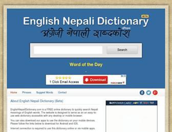 Thumbshot of Englishnepalidictionary.com
