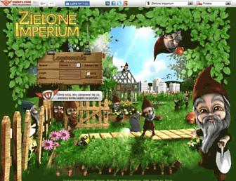 Main page screenshot of zieloneimperium.pl