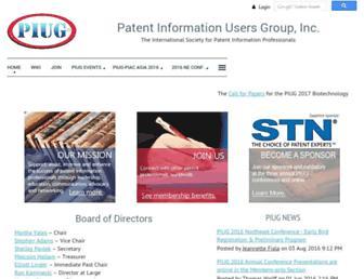 Main page screenshot of piug.wildapricot.org