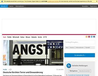Main page screenshot of jungefreiheit.de