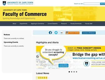 commerce.uct.ac.za screenshot