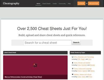Thumbshot of Cheatography.com
