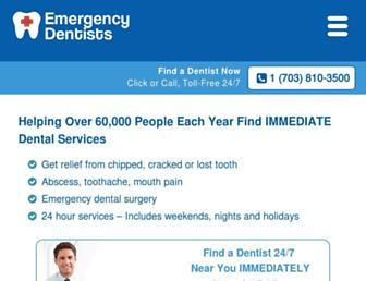 emergencydentistsusa.com screenshot