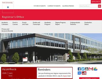 registrar.yorku.ca screenshot