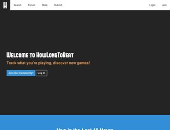 Thumbshot of Howlongtobeat.com