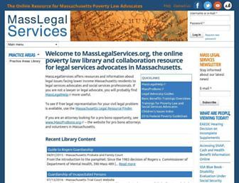 masslegalservices.org screenshot