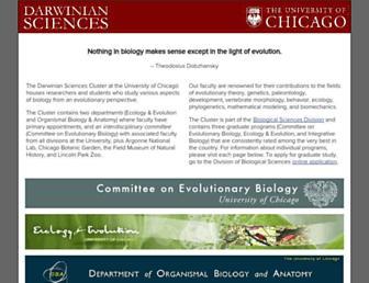 Main page screenshot of pondside.uchicago.edu