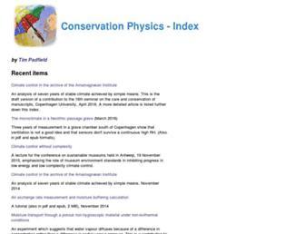 conservationphysics.org screenshot