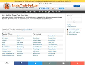 backingtracks-mp3.com screenshot