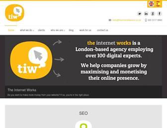 theinternetworks.co.uk screenshot