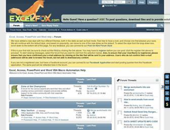 excelfox.com screenshot
