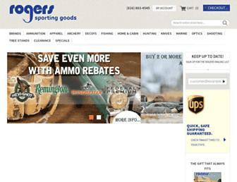 rogerssportinggoods.com screenshot