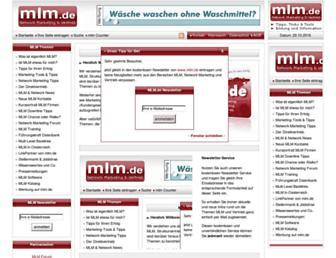 Main page screenshot of mlm.de