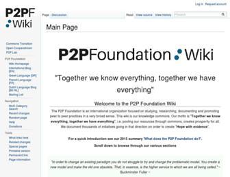 wiki.p2pfoundation.net screenshot