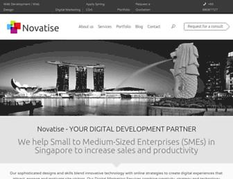novatise.com screenshot