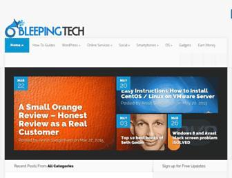 bleepingtech.com screenshot