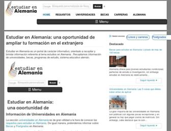 estudiarenalemania.com screenshot
