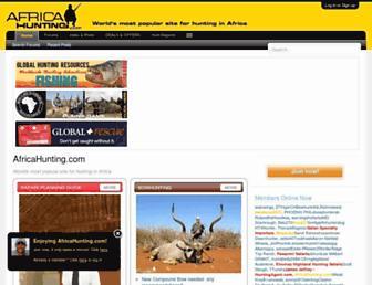 africahunting.com screenshot