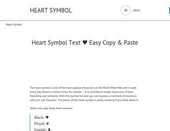 heart-symbol.com screenshot
