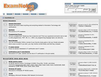 examnotes.net screenshot
