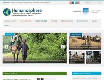 humanosphere.org screenshot