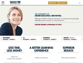 Thumbshot of Wgu.edu